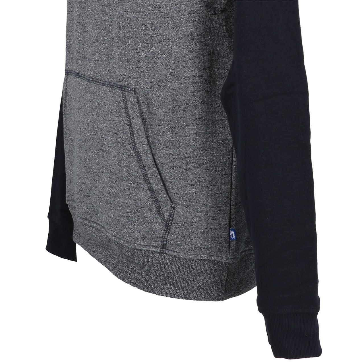 Sweatshirt-Kapuze-Kapuzenpulli-Jack-And-Jones-Kontrast-Umhang-Nv-Jr-Blau-25851 Indexbild 3