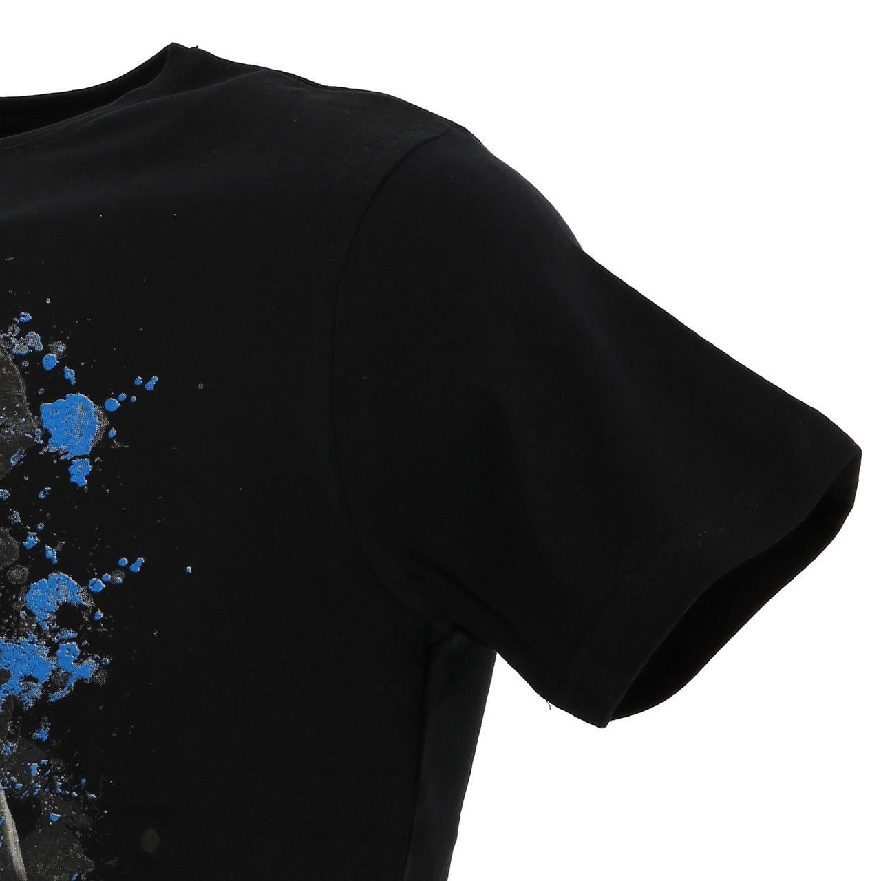 Short-Sleeve-T-Shirt-Paname-Brothers-Merico-Black-Mc-Tee-Black-26749-New thumbnail 3