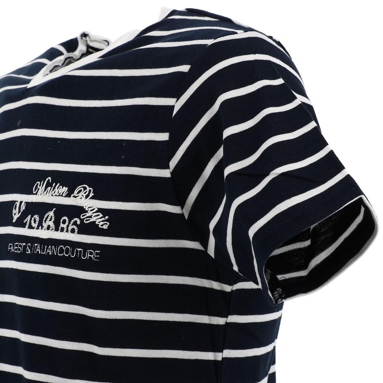 Short-Sleeve-T-Shirt-La-Maison-Blaggio-Mavili-Navy-Wht-Mc-Tee-Blue-27335 thumbnail 3