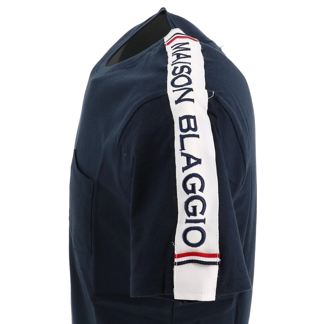 Short-Sleeve-T-Shirt-La-Maison-Blaggio-Metili-Navy-Mc-Tee-Blue-27343-New thumbnail 3