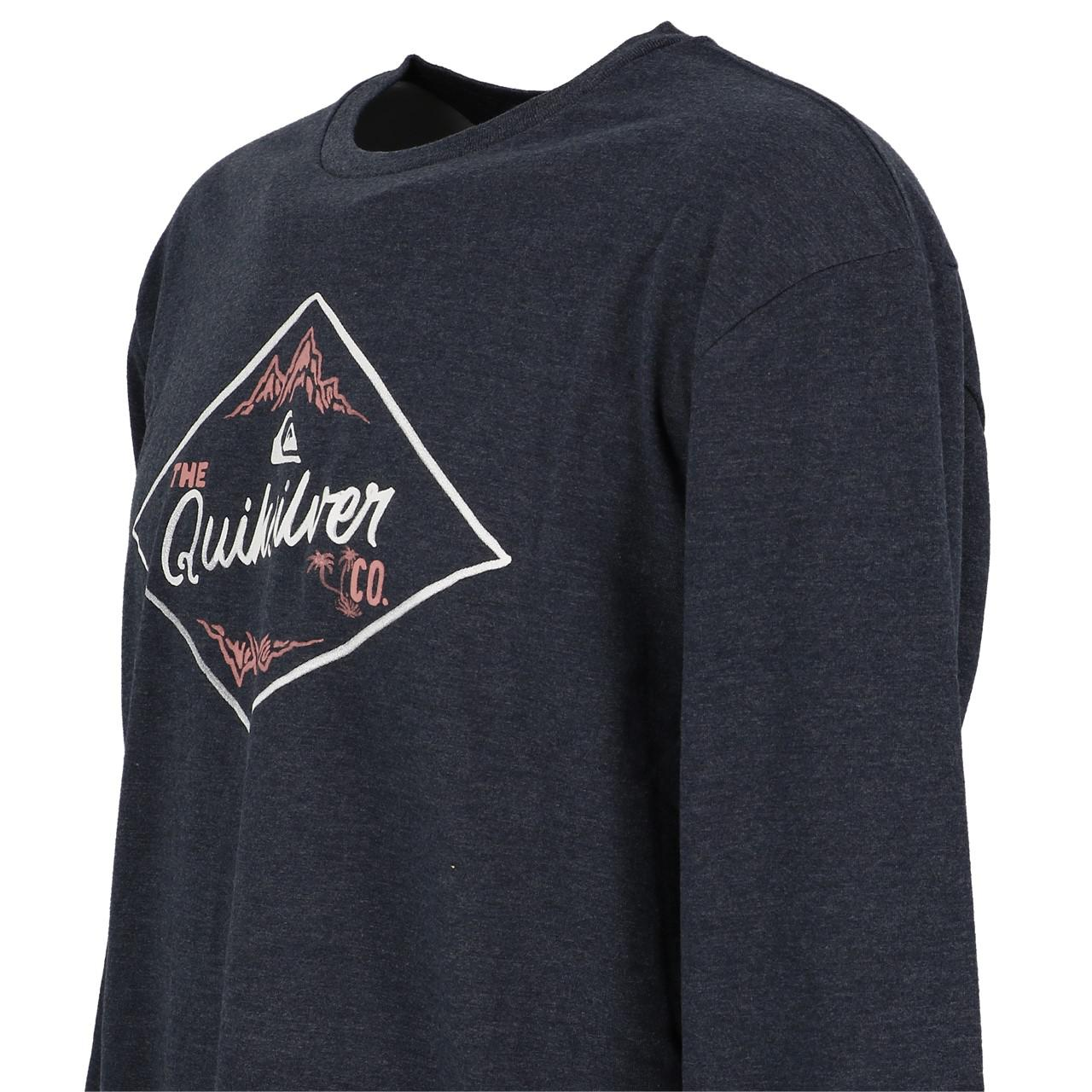 T-Shirt-Long-Sleeves-Quiksilver-California-Wounds-Nv-Tee-Blue-27852-New thumbnail 3