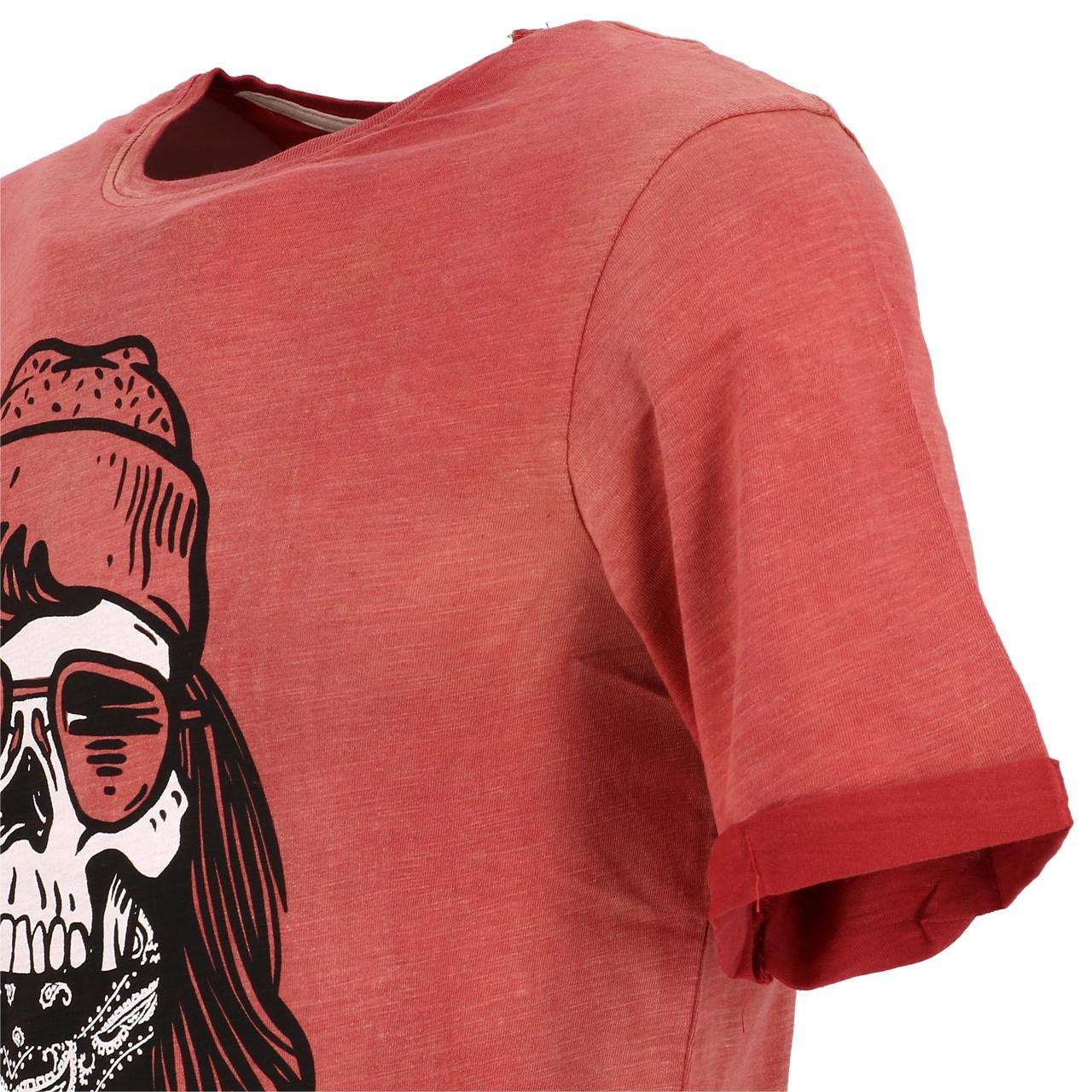 Short-Sleeve-T-Shirt-Jack-and-Jones-Craps-Brick-Red-Mc-Tee-Red-28384-Does-Not thumbnail 3