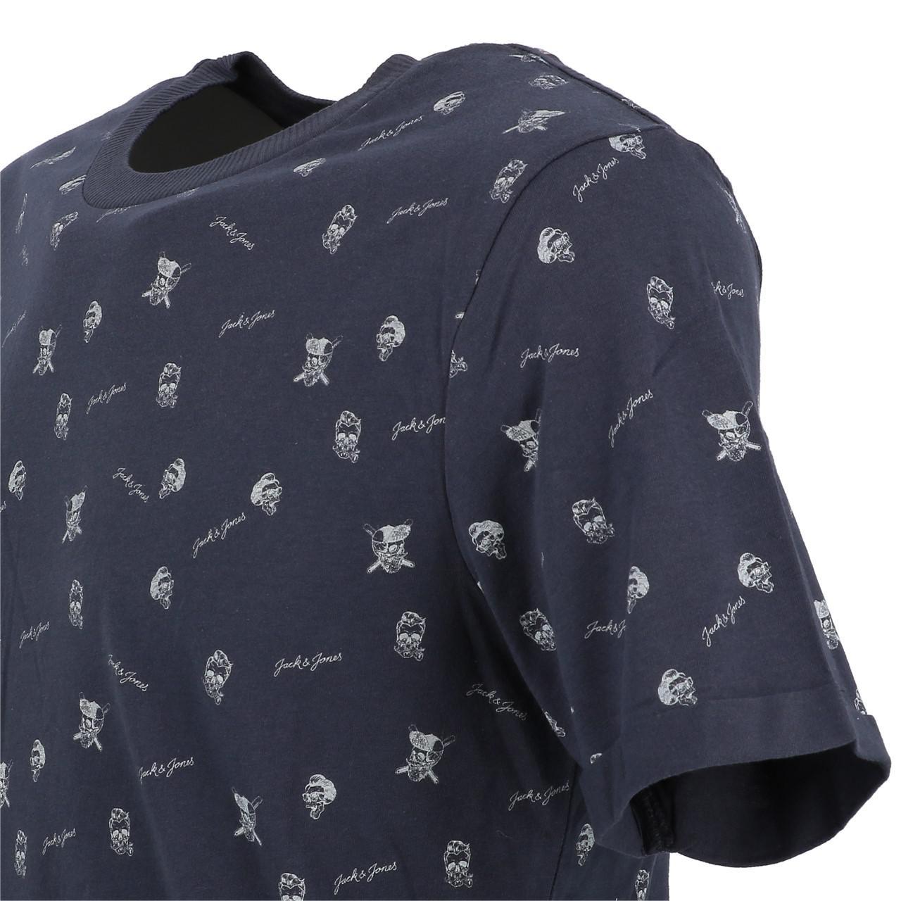 Short-Sleeve-T-Shirt-Jack-and-Jones-Cam-Total-Eclipse-Mc-Tee-Blue-28409-N thumbnail 3
