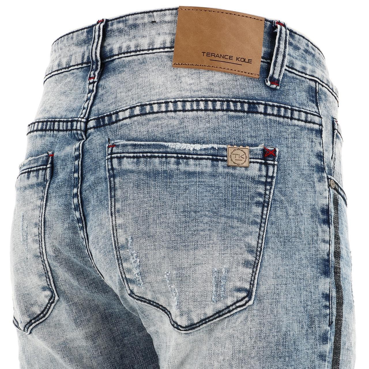 Jeans-Pants-Slim-Terance-Koll-Oscar-Denim-Jeans-Skinny-Blue-28526-New thumbnail 3