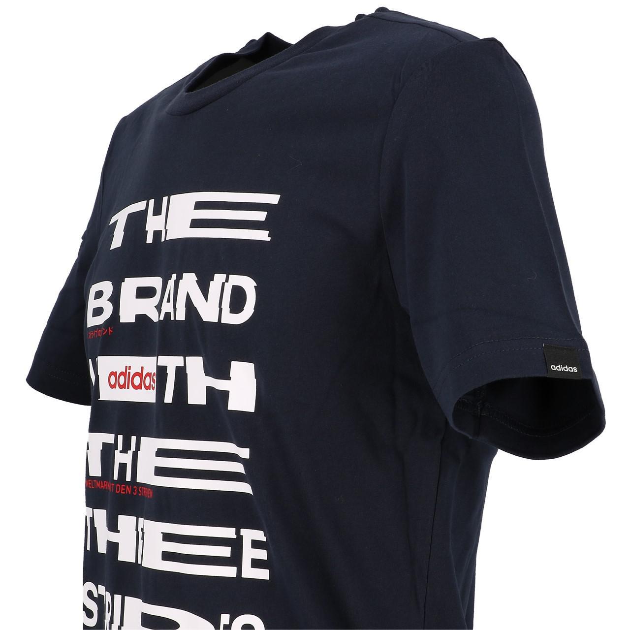 Short-Adidas-Dist-Fnt-Navy-White-Mc-Tee-Blue-29223-New thumbnail 3