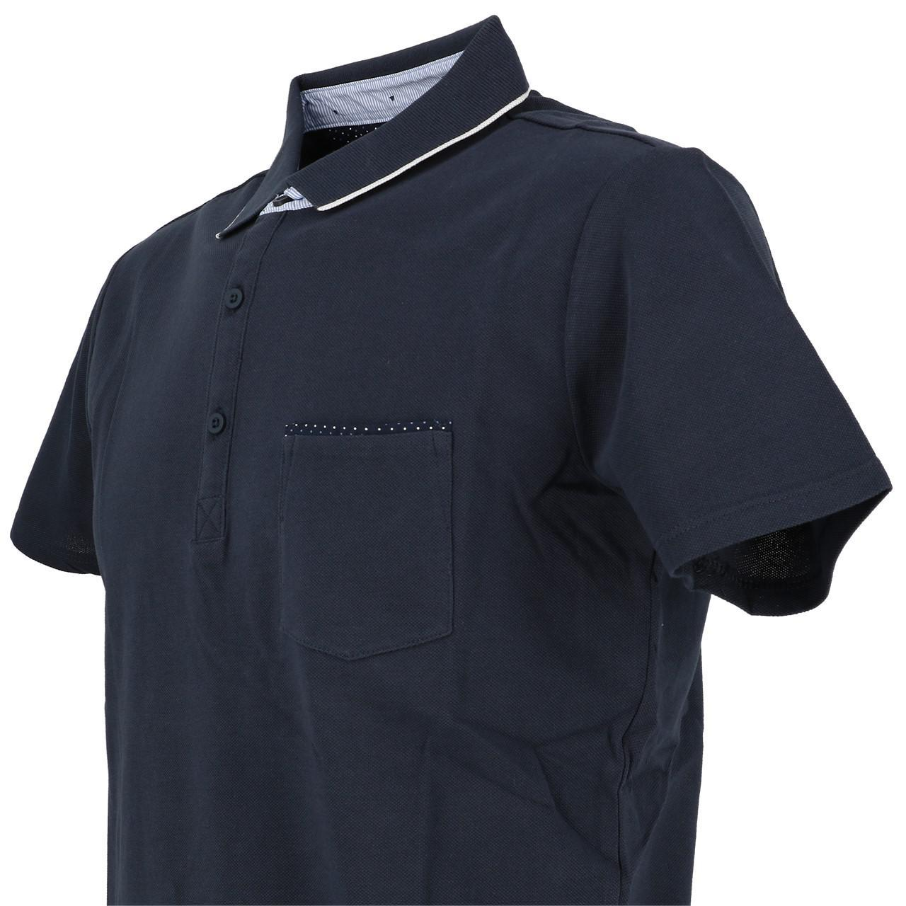 Short-Sleeve-Polo-Teddy-smith-Liam-Navy-Mc-Polo-Blue-29879-New thumbnail 3