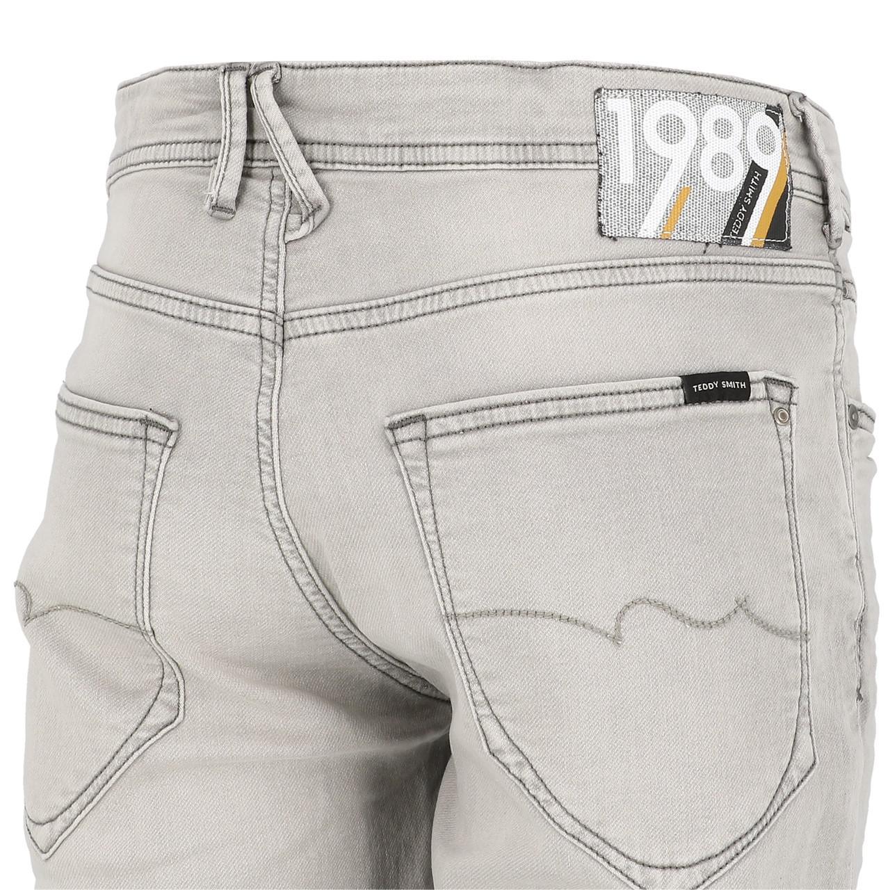 Bermuda-Shorts-Teddy-smith-Scotty-3-Grey-Shorts-Grey-29920-New thumbnail 3
