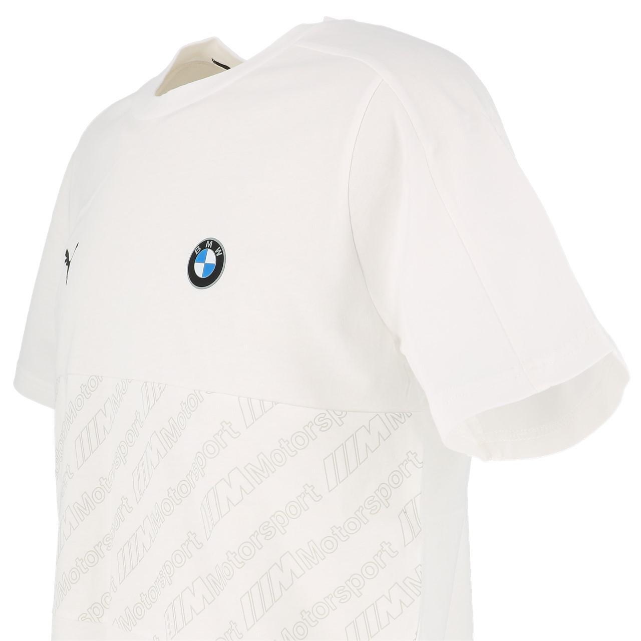 Short-Puma-BMW-Mms-t7-Wht-Mc-Tee-White-30124-New thumbnail 3