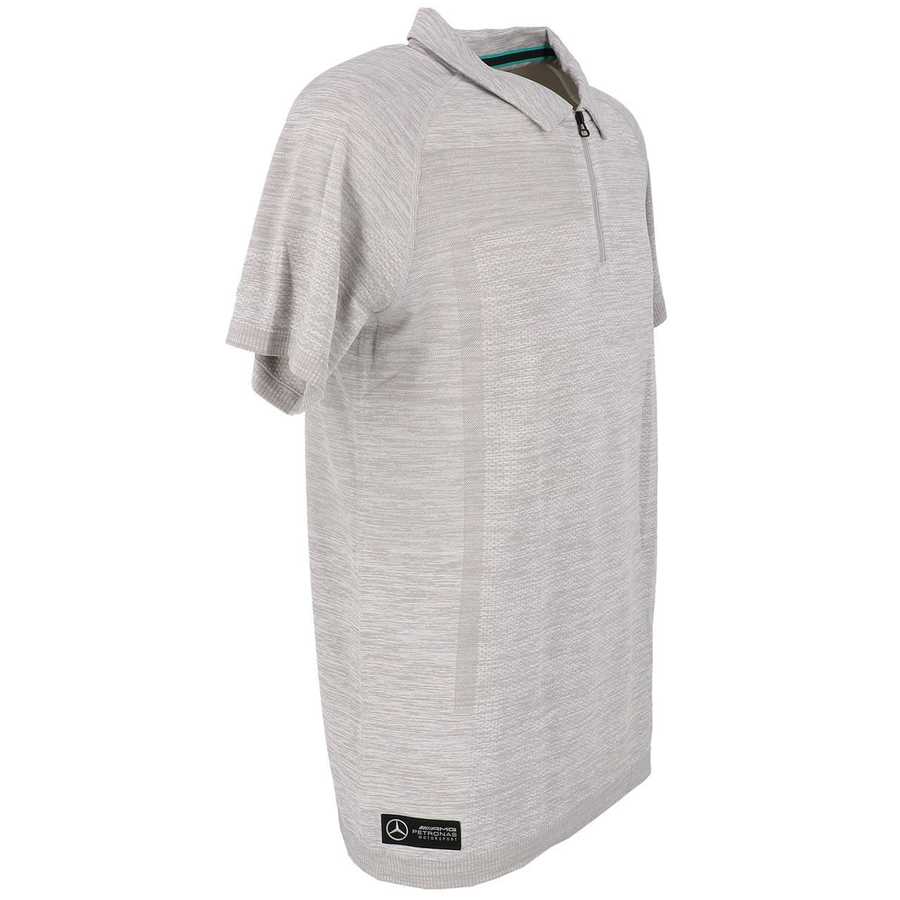 Short-Sleeve-Polo-Puma-Mapm-Rct-Evoknit-Groups-Polo-Grey-30141-New thumbnail 3