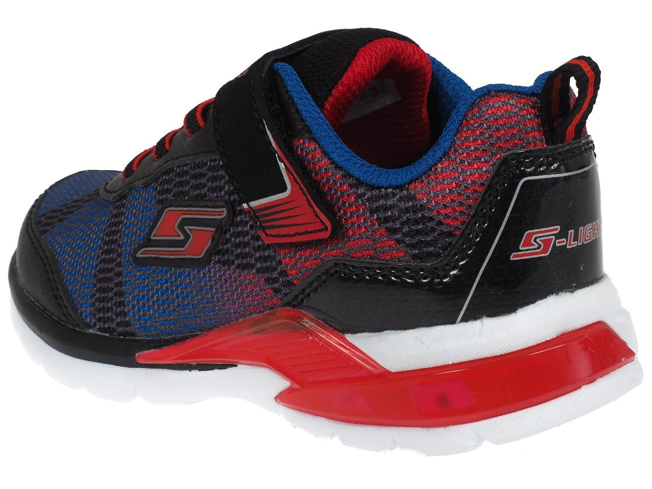 Chaussures-scratch-Skechers-Erupters-lava-lumiere-Bleu-38585-Neuf
