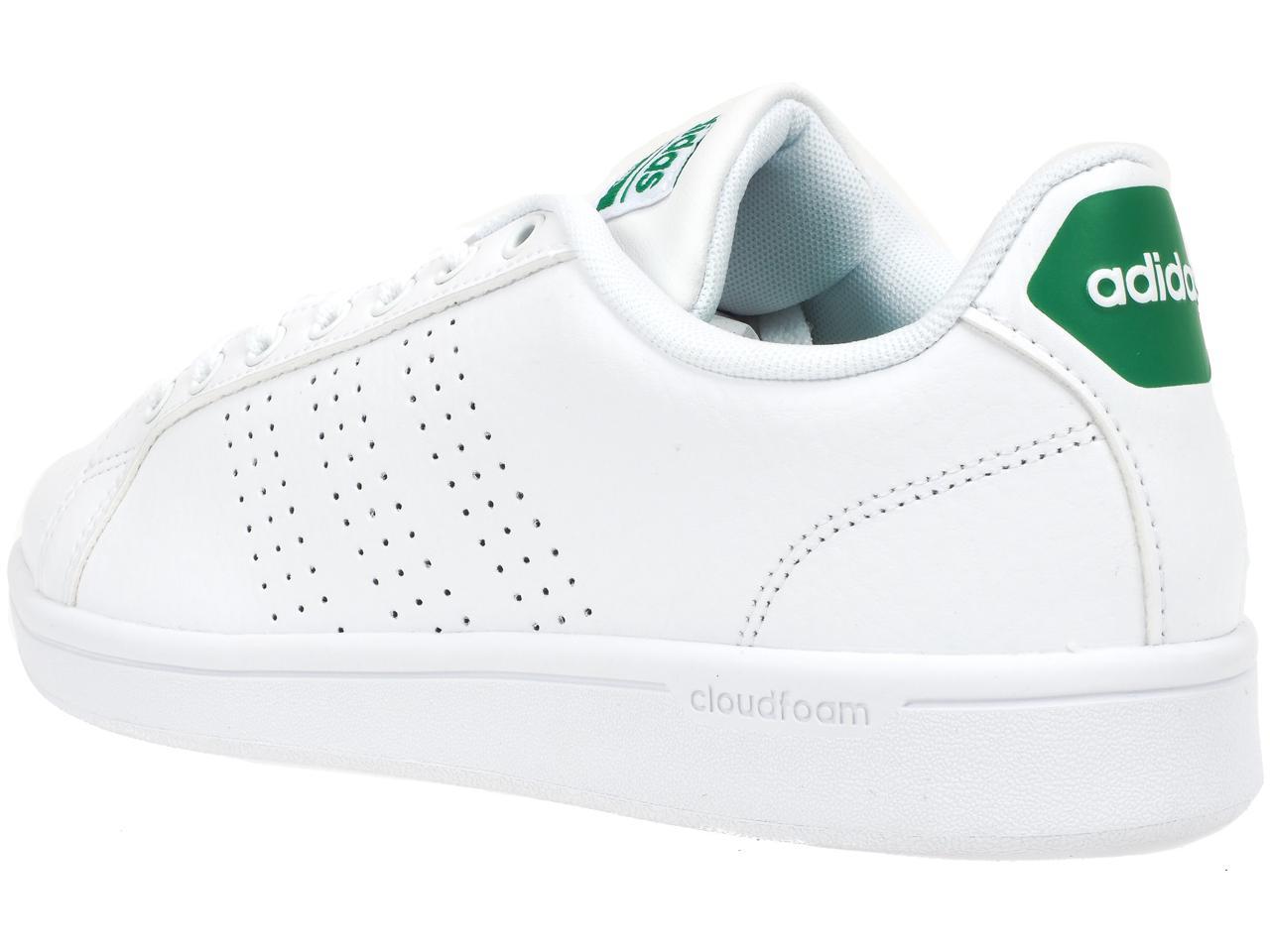 Chaussures-mode-ville-Adidas-neo-Advantage-2-blc-vrt-Blanc-38890-Neuf
