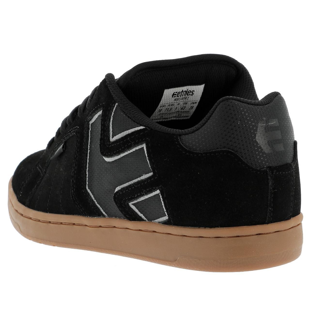Shoes-Skateboard-Etnies-Fader-Black-Grey-Gum-Black-39127-New thumbnail 3