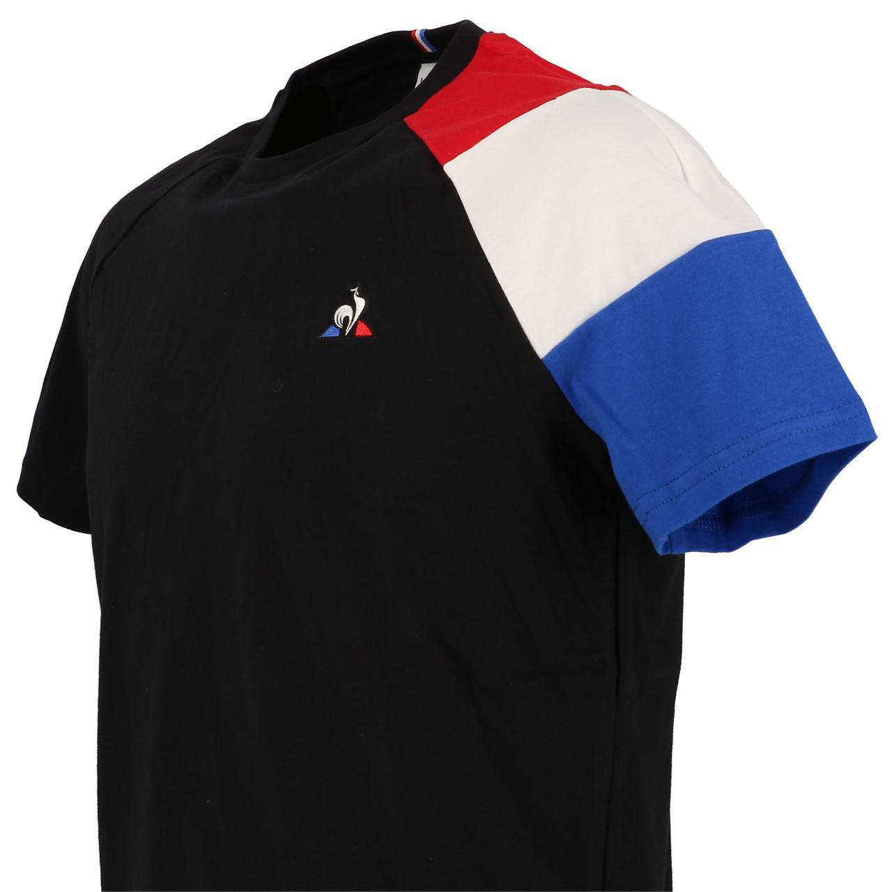 Short-Le-coq-sportif-Tricolor-Tee-H-Black-Black-40704-New thumbnail 3
