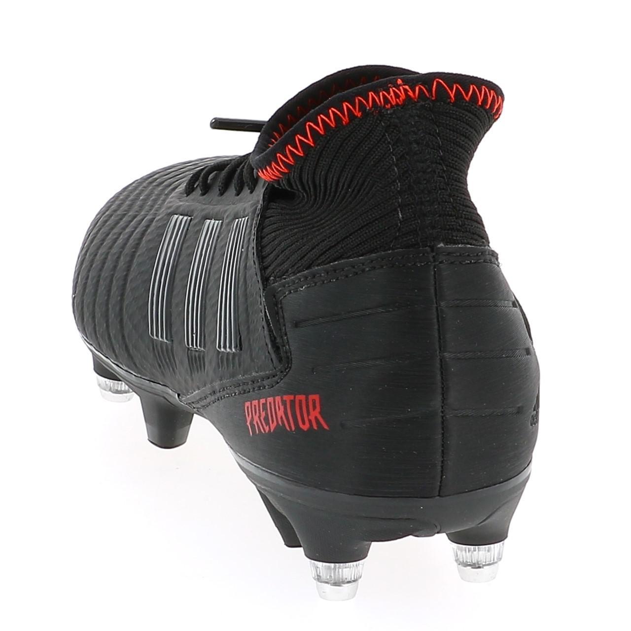 Football-Shoes-Flap-Adidas-Predator-19-3-Black-Sg-Black-41815-New thumbnail 2