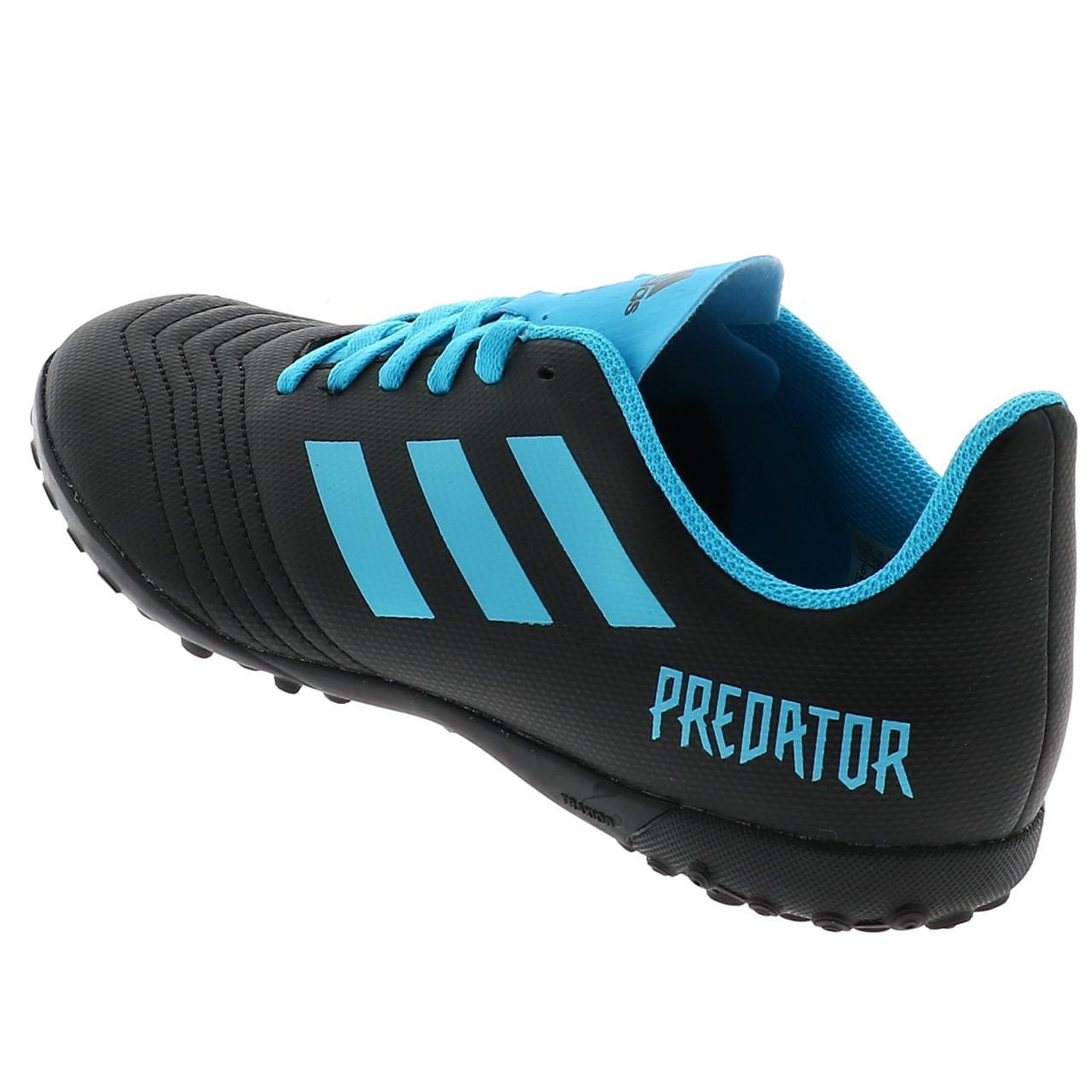 Football-Shoes-Stabilized-Adidas-Predator-19-4-Tf-Jmoule-Jr-Black-42177-N thumbnail 3