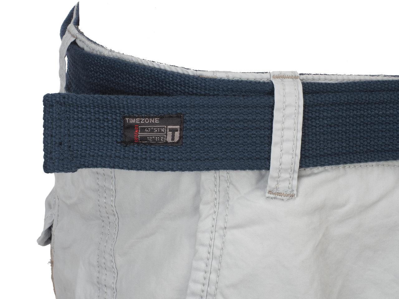 Bermuda-Shorts-Timezone-Russell-Light-Grey-Shorts-Grey-42181-New thumbnail 3