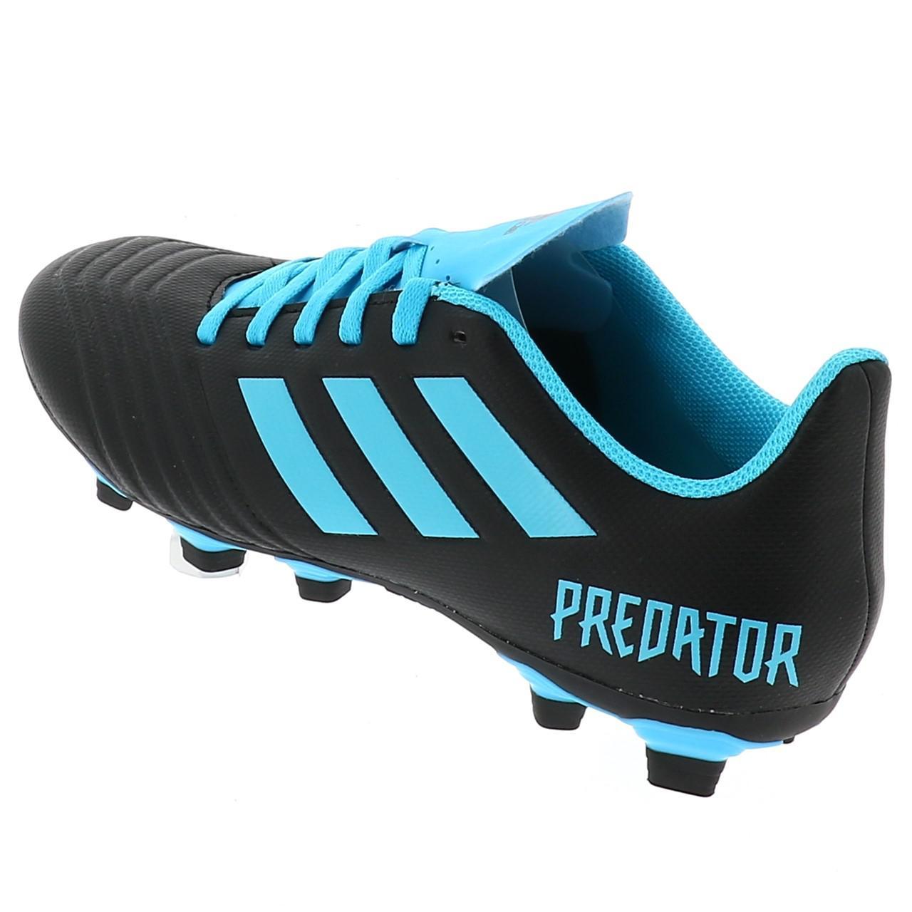 Chaussures-football-lamelles-Adidas-Predator-19-4-fg-grorg-Noir-42821-Neuf miniature 3