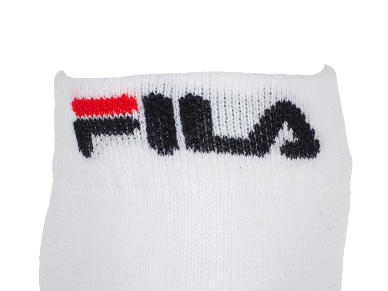 Chaussettes-Fila-Logo-blanc-quarter-par3-Blanc-43067-Neuf miniature 3