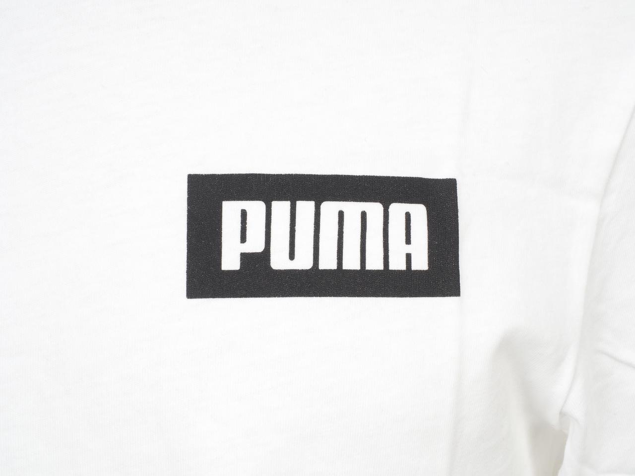 Short-Sleeve-T-Shirt-Puma-Rebel-White-Mc-Tee-White-44494-New thumbnail 3