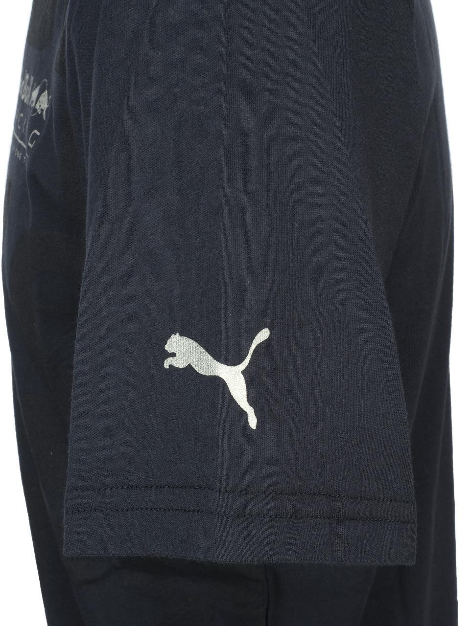 Short-Sleeve-T-Shirt-Puma-Rbr-Race-Navy-Mc-Tee-Blue-44570-New thumbnail 3