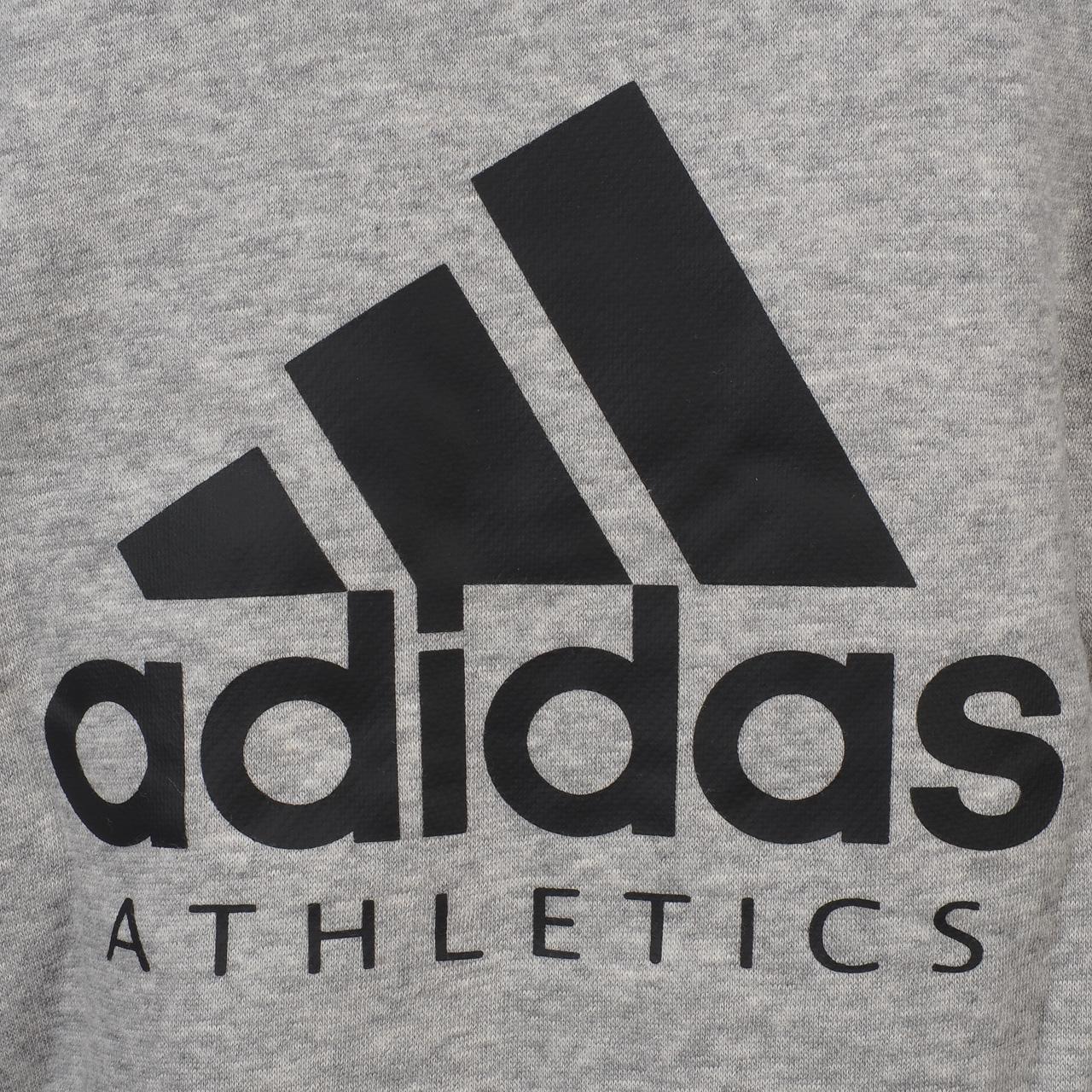 Jacken-Sweatshirts-Zipped-Kapuze-Adidas-Yb-Sid-Grc-Fz-Capsweat-Jr-Grau-46495 Indexbild 3