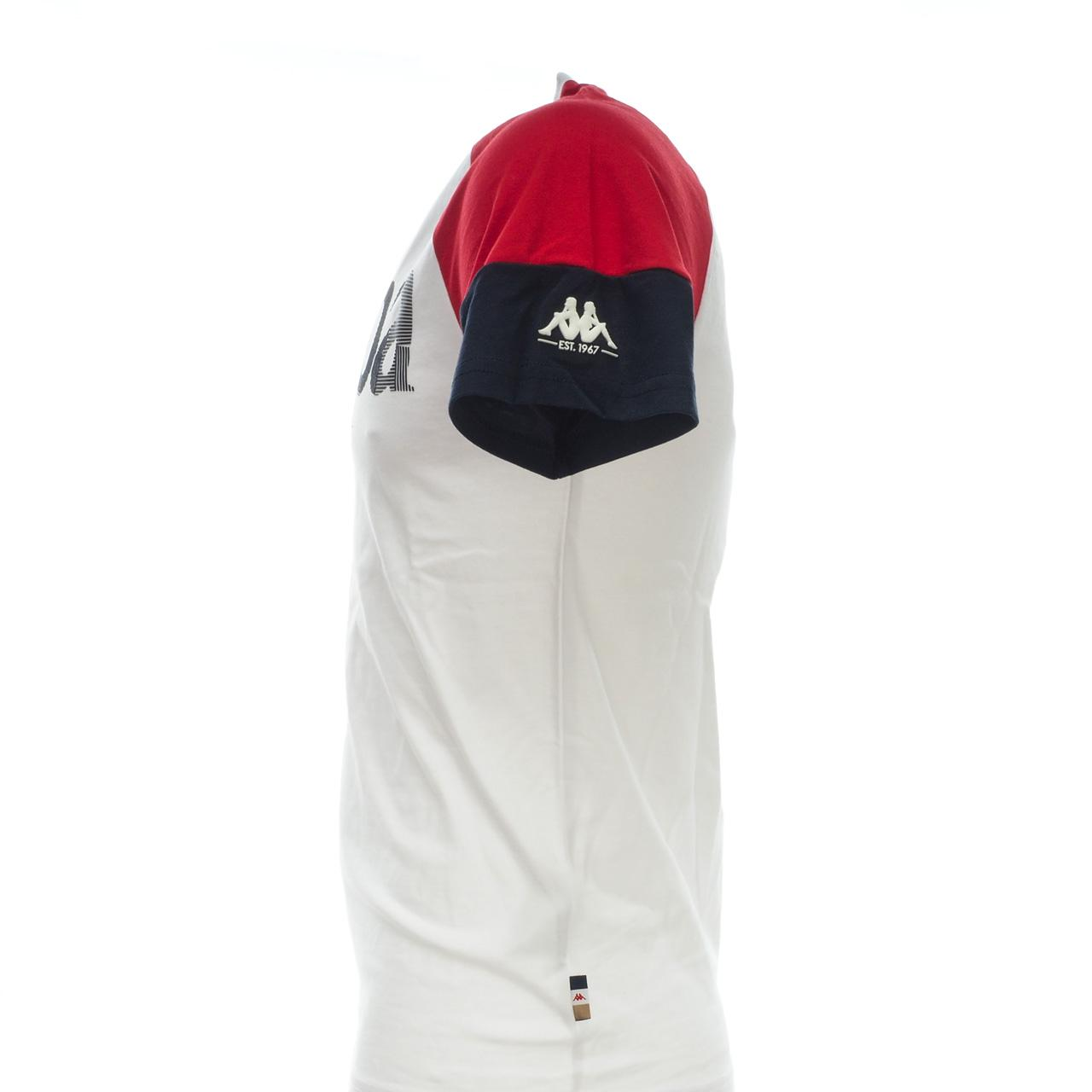 Short-Sleeve-T-Shirt-Kappa-Irmiou-Red-White-Navy-White-46521-New thumbnail 3