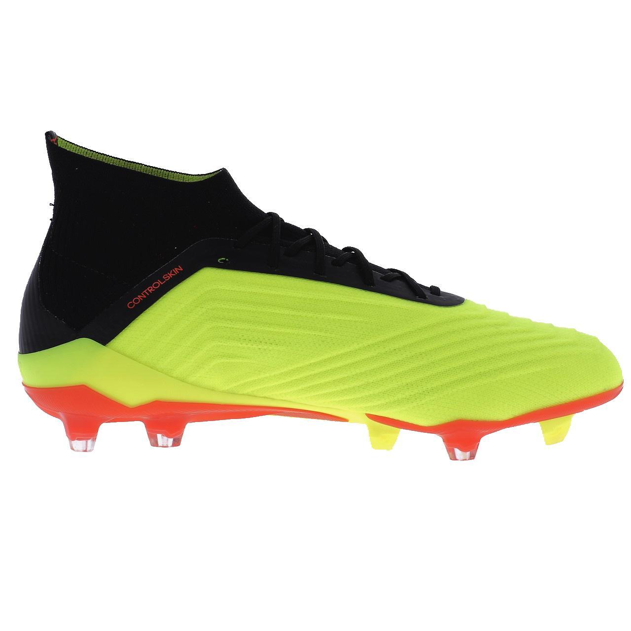 Football-Shoes-Flap-Adidas-Predator-18-1-Fg-Syello-Yellow-47849-New thumbnail 3