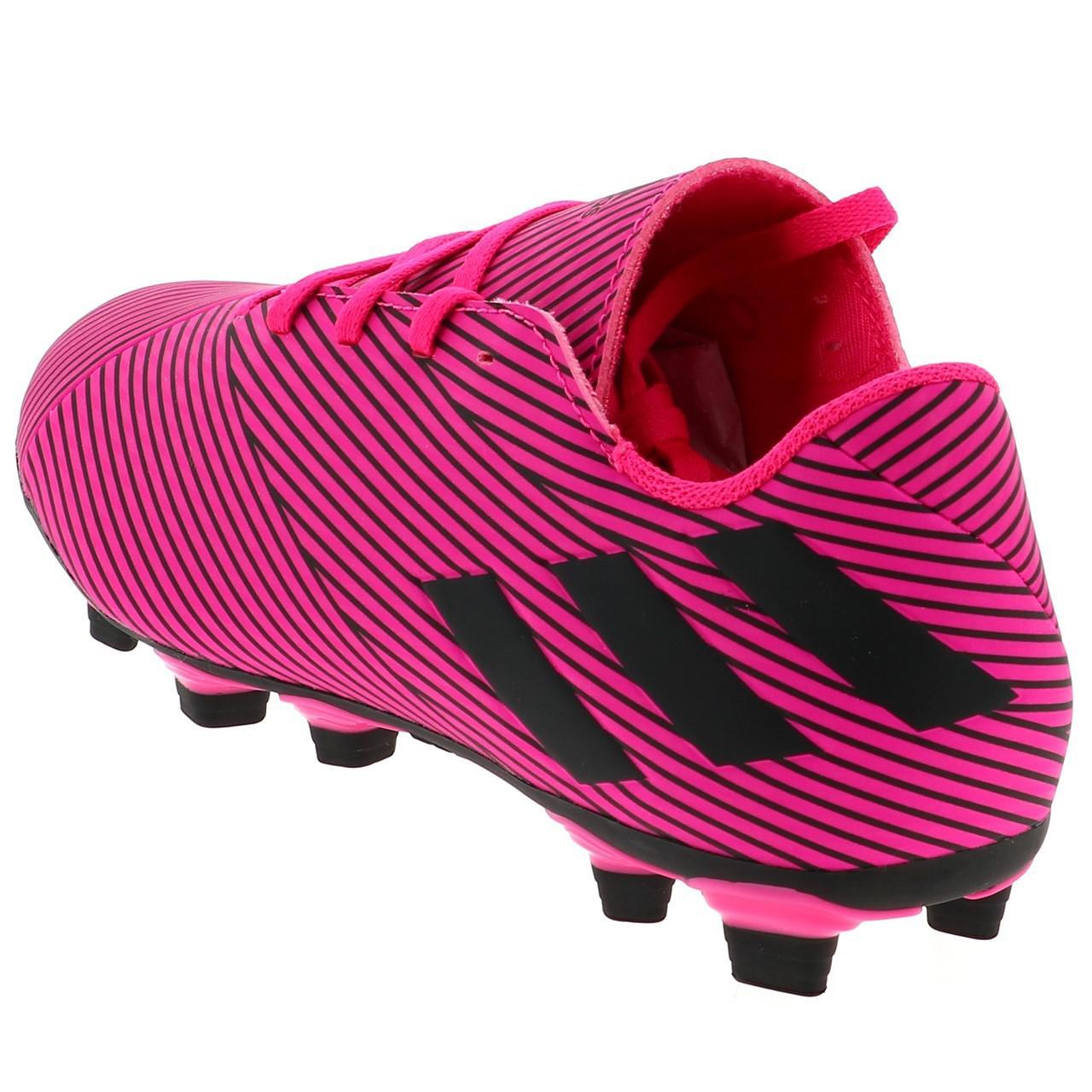 Football-Shoes-Flap-Adidas-Nemeziz-19-4-Fxg-Pink-48290-New thumbnail 3