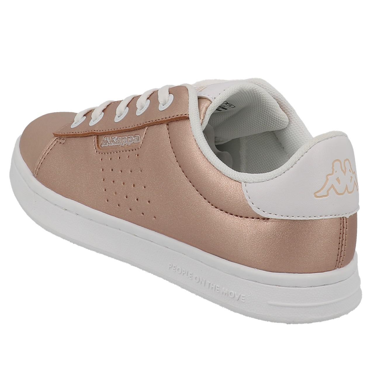Schuhe-Niedrig-Leder-oder-Faux-Kappa-Tchouri-Schnuersenkel-Rauch-Beige-49612 Indexbild 3
