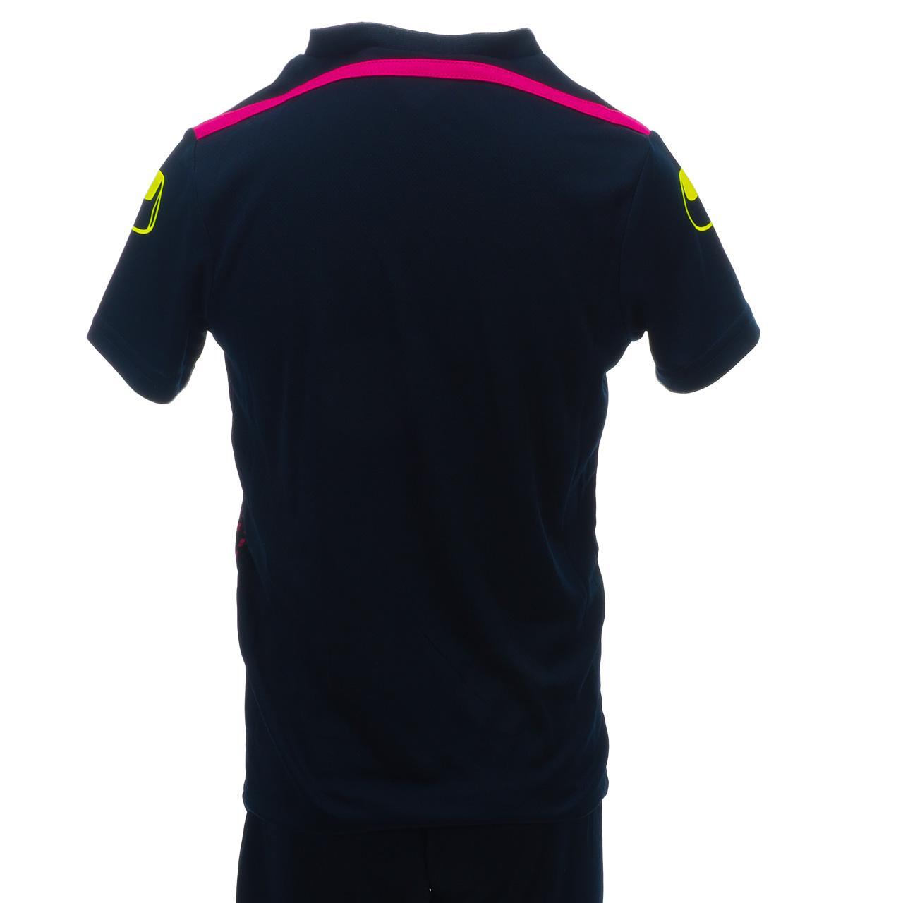 Set-Minikit-Football-Uhlsport-League-1-Jr-Jersey-Sh-Blue-49993-New thumbnail 3