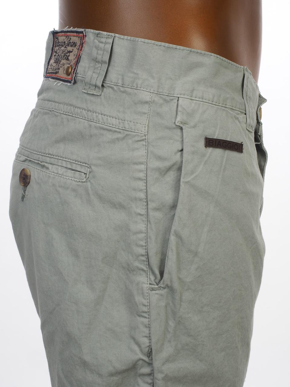 Three-Quarter-Pants-Bermuda-Biaggio-Famiros-Grey-Bermuda-Grey-50722-New thumbnail 3