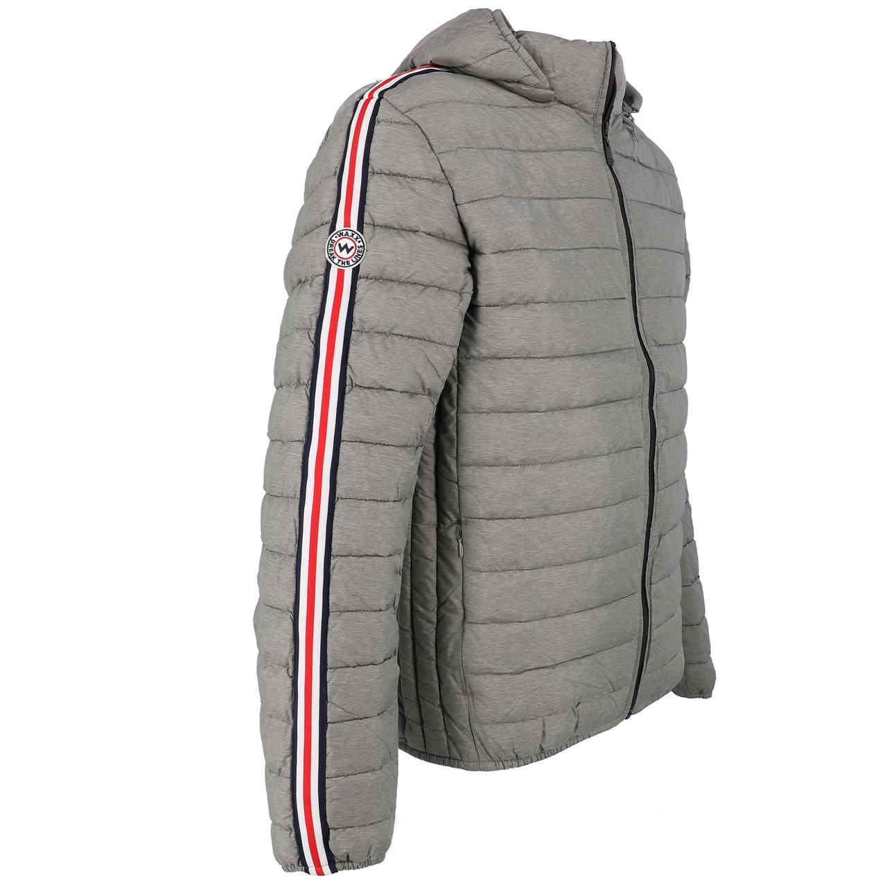 Synthetic-Jackets-Waxx-Shelter-Stripes-Metal-H-Grey-50764-New thumbnail 3