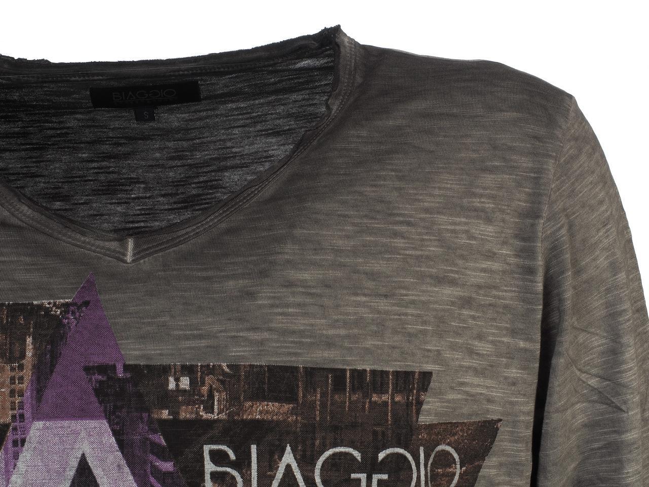 T-Shirt-Long-Sleeves-Biaggio-Lydil-Dk-Grey-ML-Tee-Grey-51660-New thumbnail 2