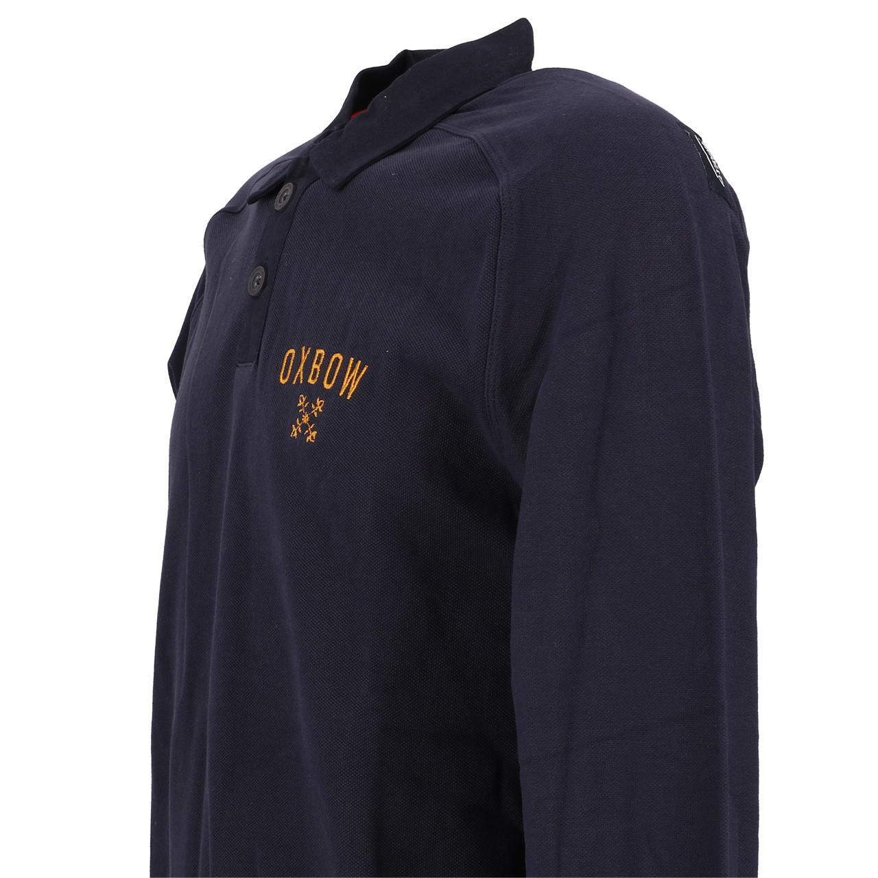 Long-Sleeve-Polo-Oxbow-Niklar-Polo-ML-Blue-51770-New thumbnail 3