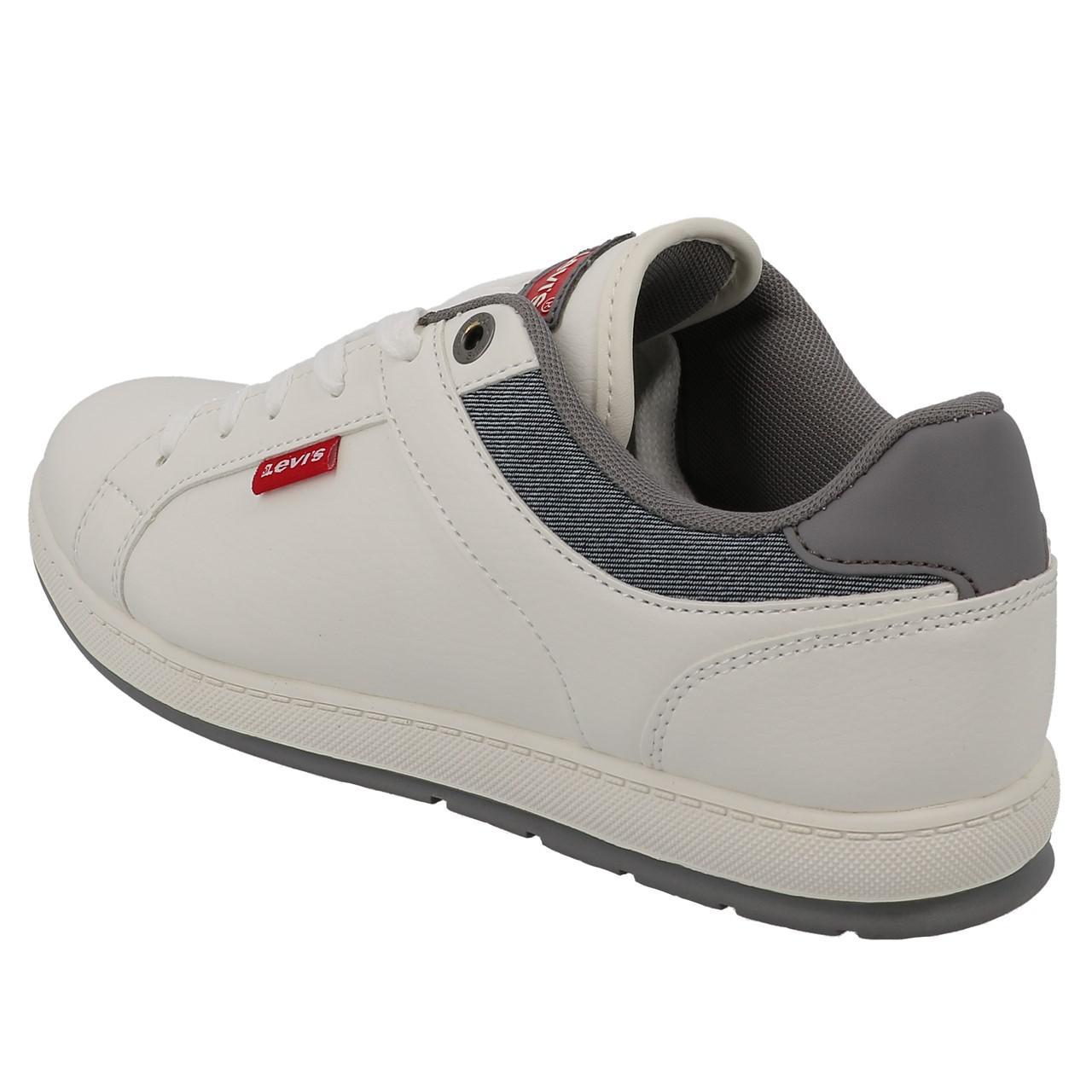 Chaussures-mode-ville-Levis-Declan-blanc-Blanc-53197-Neuf miniature 3