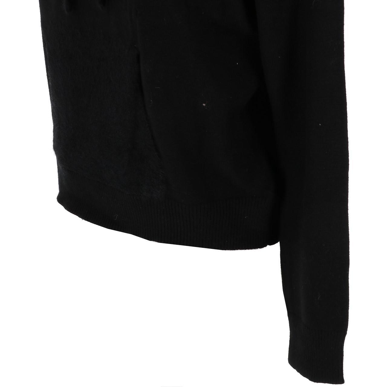 Pull-fin-Lcouture-Mohair-cap-w-noir-Noir-53722-Neuf miniature 3