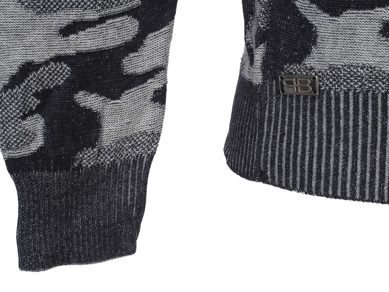 Thin-Sweater-Paname-Brothers-Party-Navy-Grey-Sweater-Blue-53931-New thumbnail 3