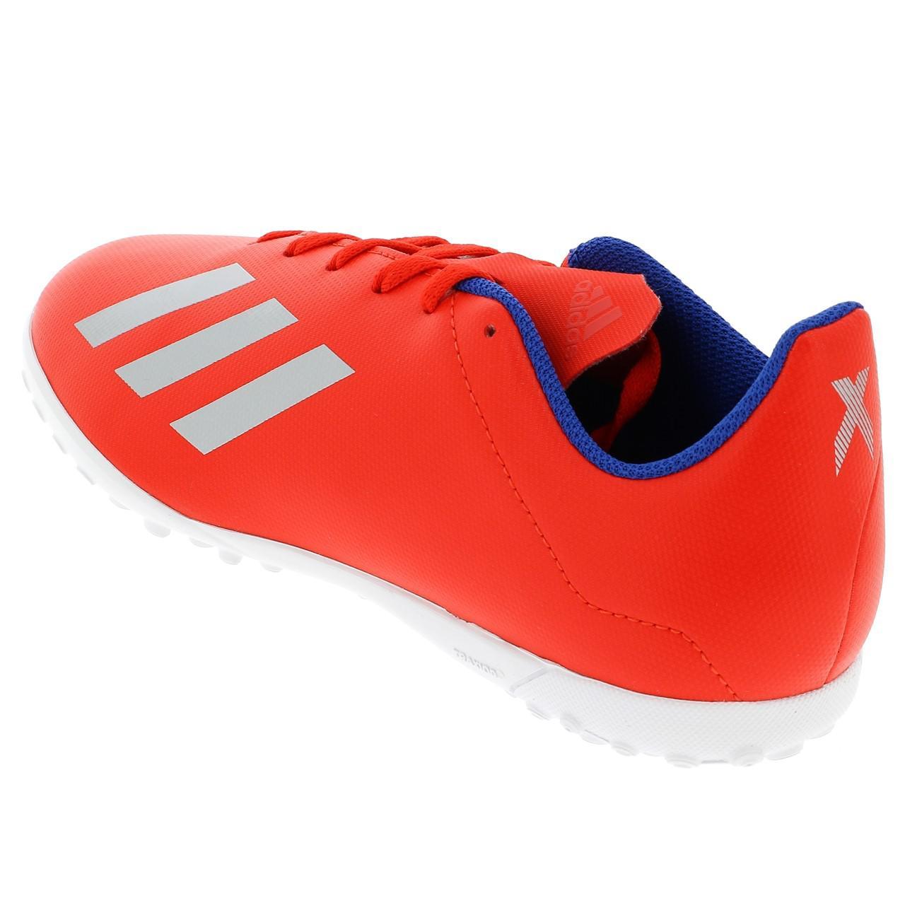 Football-Shoes-Bathroom-Indoor-Adidas-x-18-4-Tf-Jr-Red-54736-New thumbnail 3