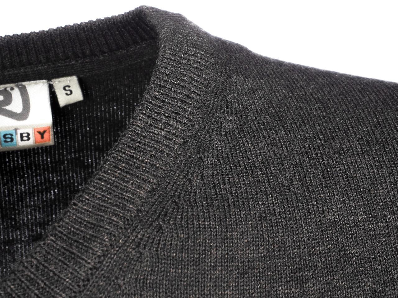 Sweater-Crossby-Twitt-Anc-V-Neck-Sweater-Grey-55732-New thumbnail 3