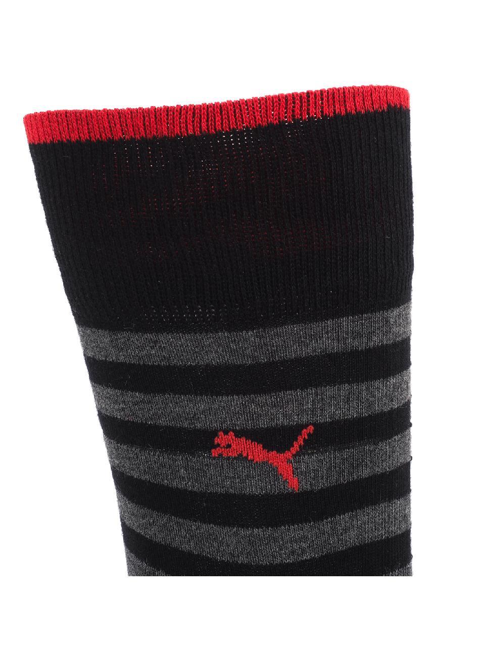 Chaussettes-Puma-Classic-black-stripes-x2-Noir-57037-Neuf miniature 3