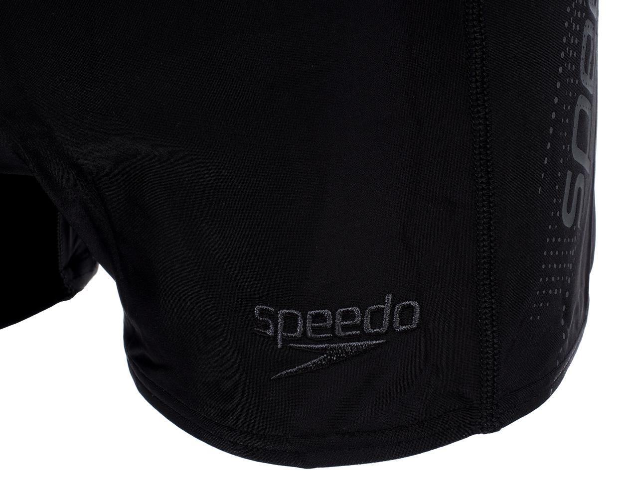 Boxer-Swimsuit-Speedo-Sports-Logo-Black-Gray-Black-58322-New thumbnail 3