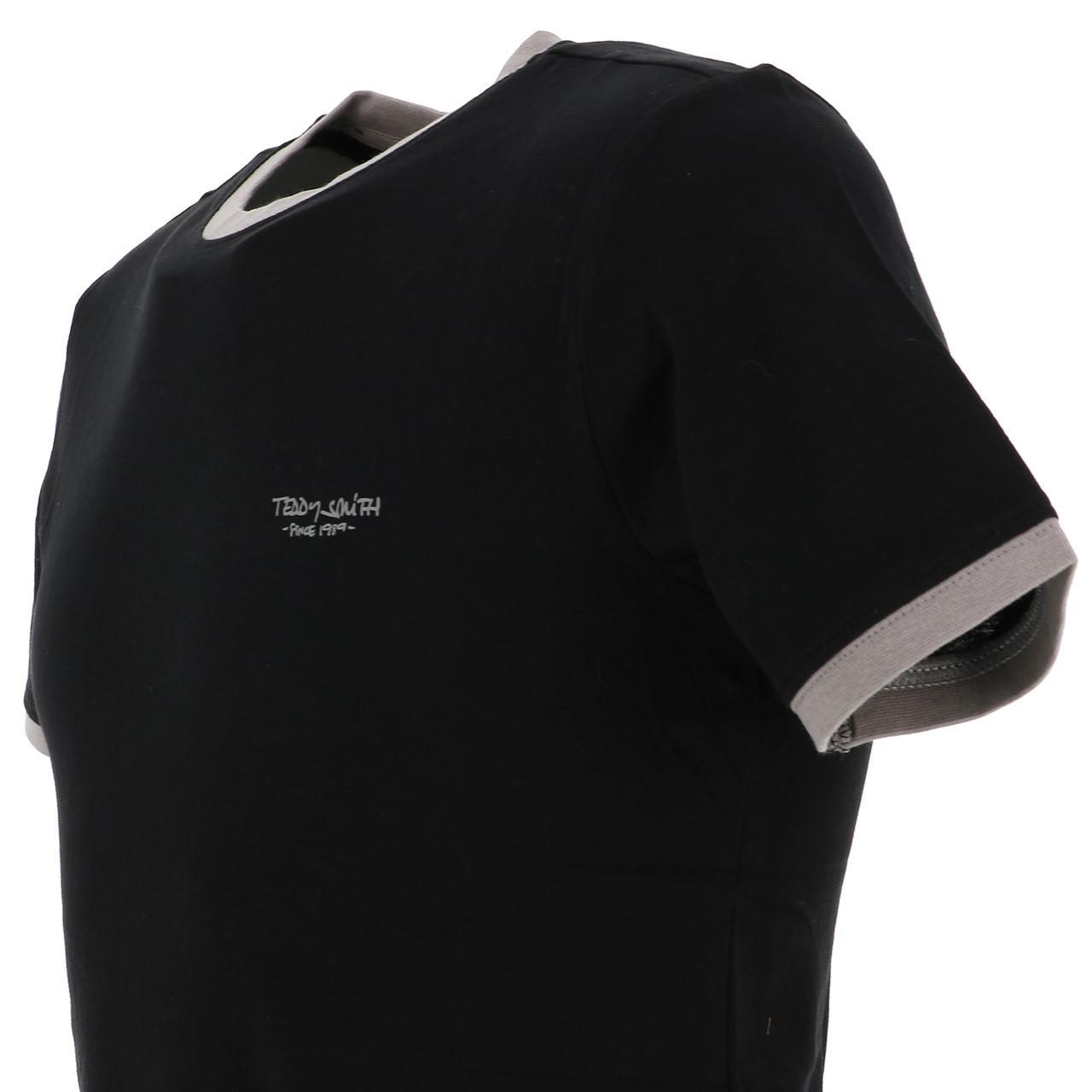 Short-Sleeve-T-Shirt-Teddy-Smith-the-Tee-Mc-Black-Black-65767-New thumbnail 3