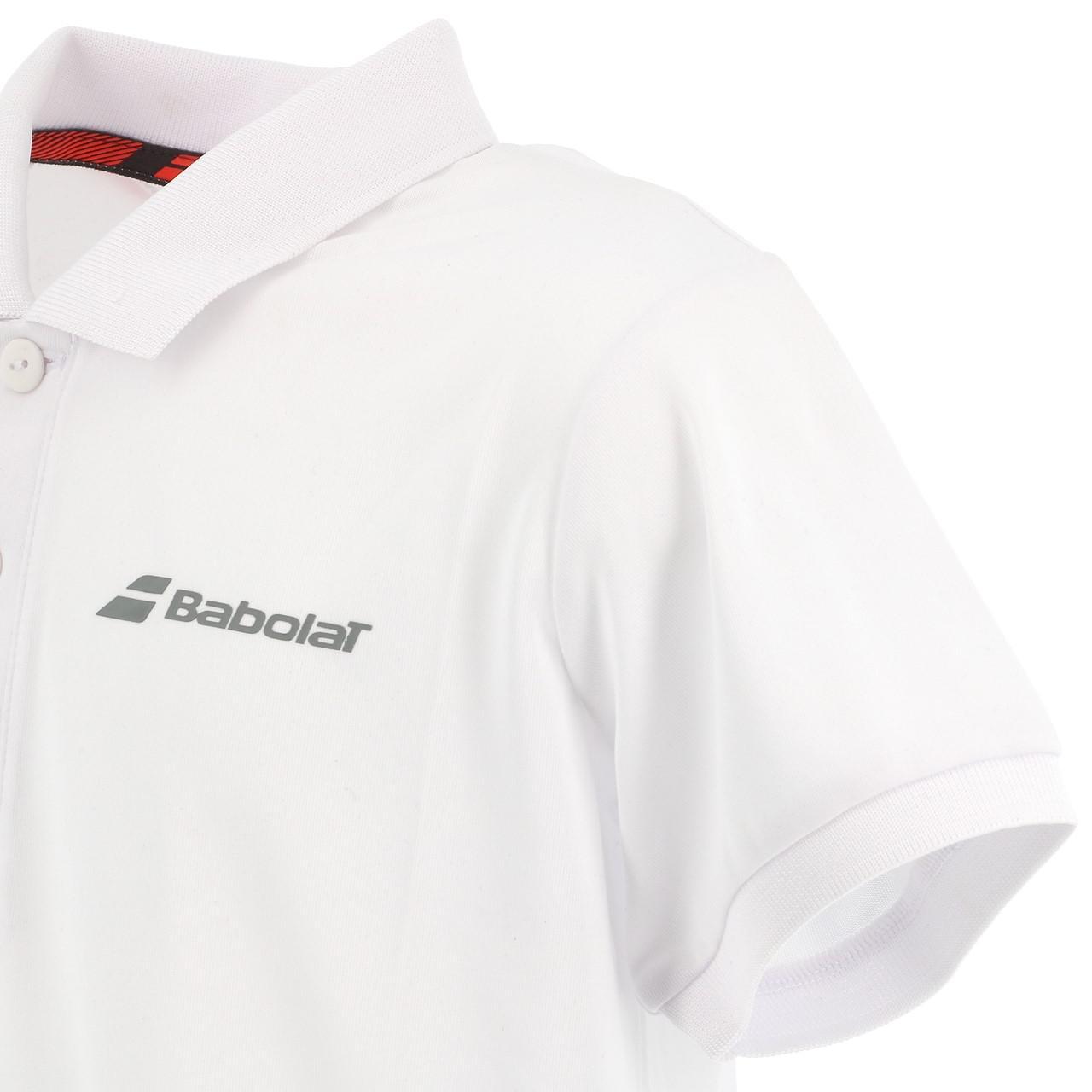 Polo-Von-Tennis-Babolat-Polo-Kind-Weiss-Weiss-71214-Neu Indexbild 3