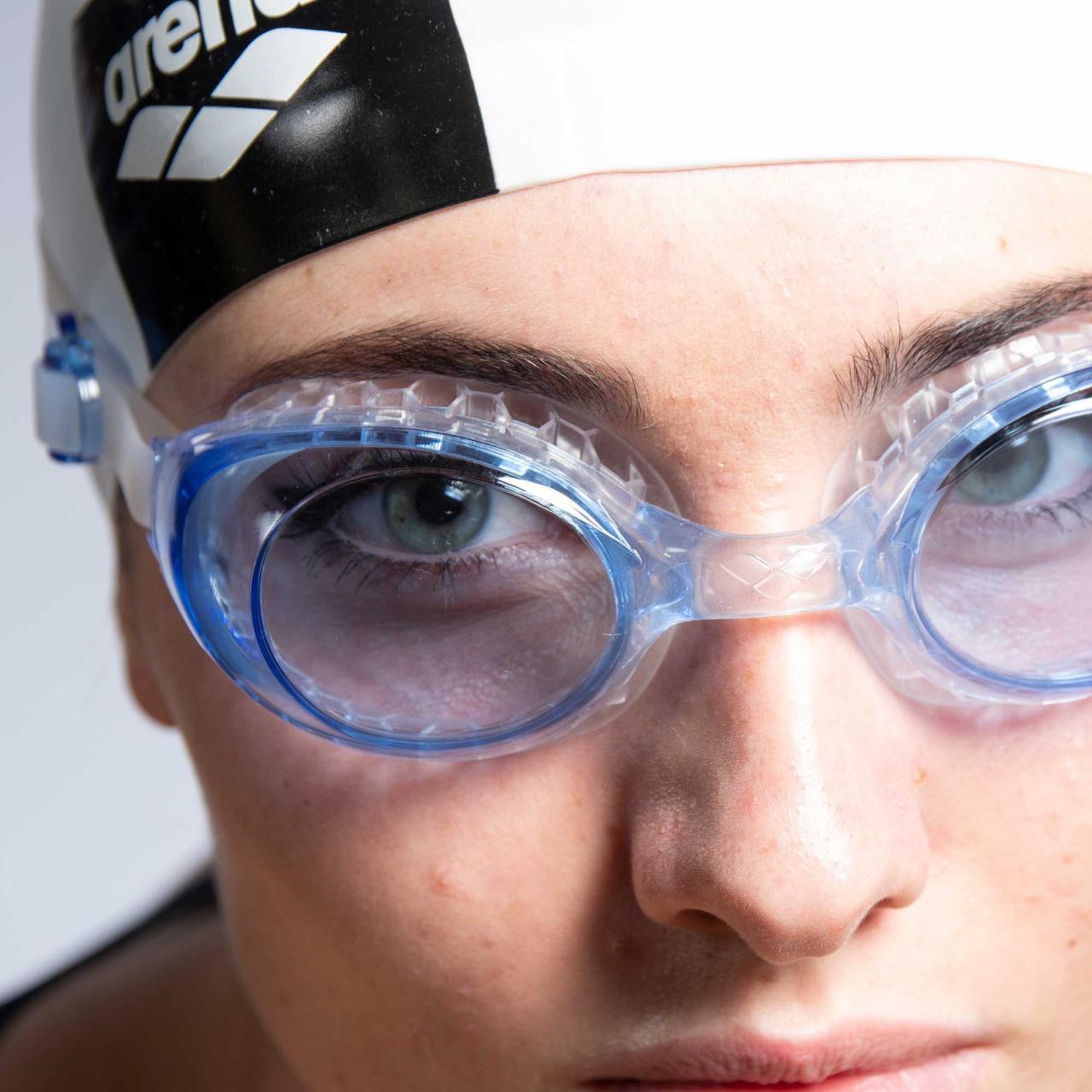 Brille-Bade-Schwimmbad-Arena-Air-Soft-Blau-Transparent-Weiss-71636-Neu Indexbild 3