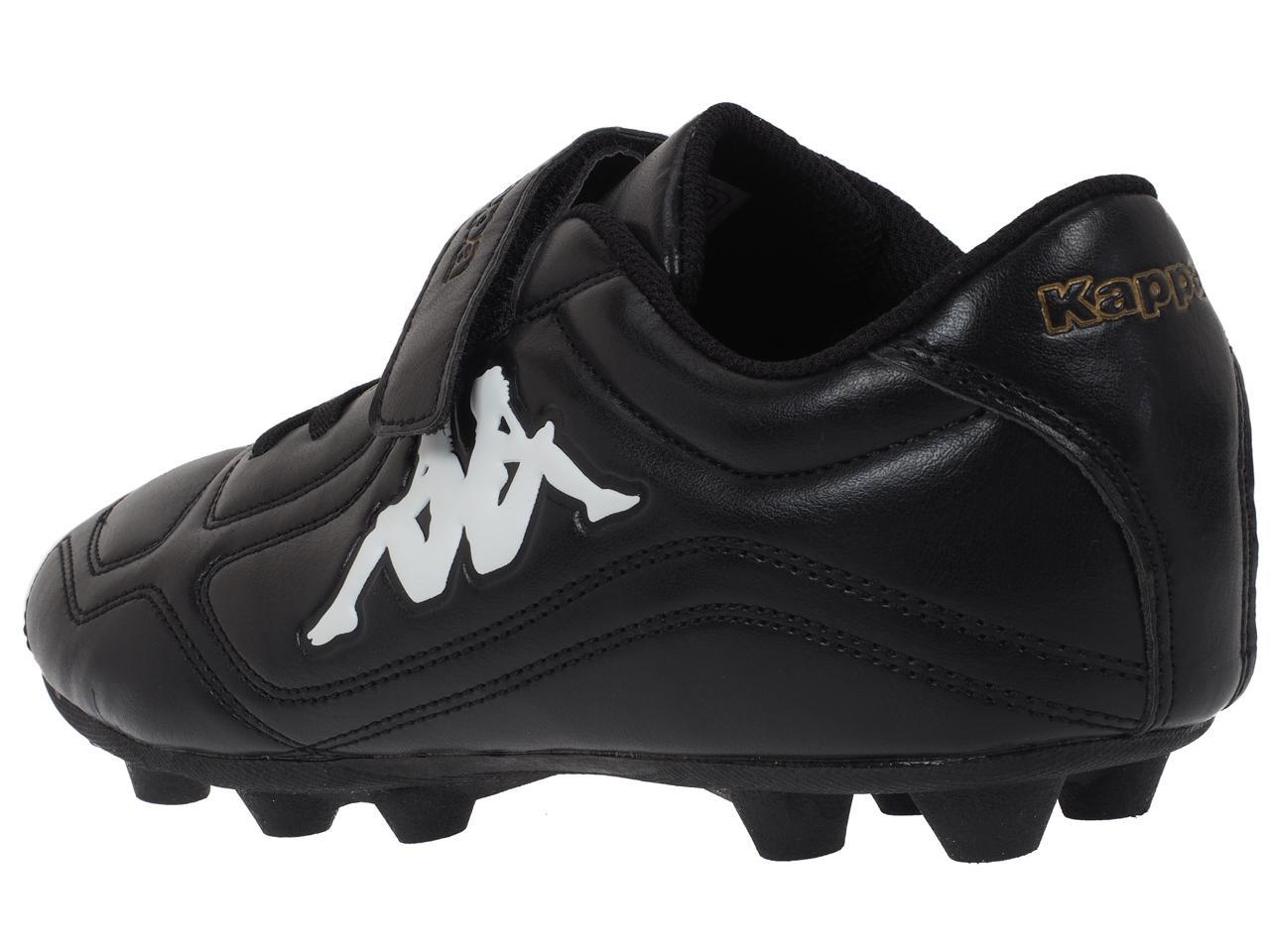 Football-Shoes-Molded-Kappa-Parek-Fg-Kid-Black-Black-75087-New thumbnail 3