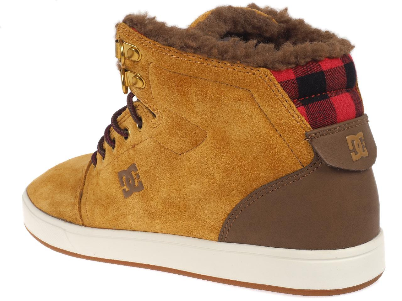 Chaussures-mid-mi-montantes-Dc-shoes-Crisis-high-sherpa-camel-Marron-75484-Neu
