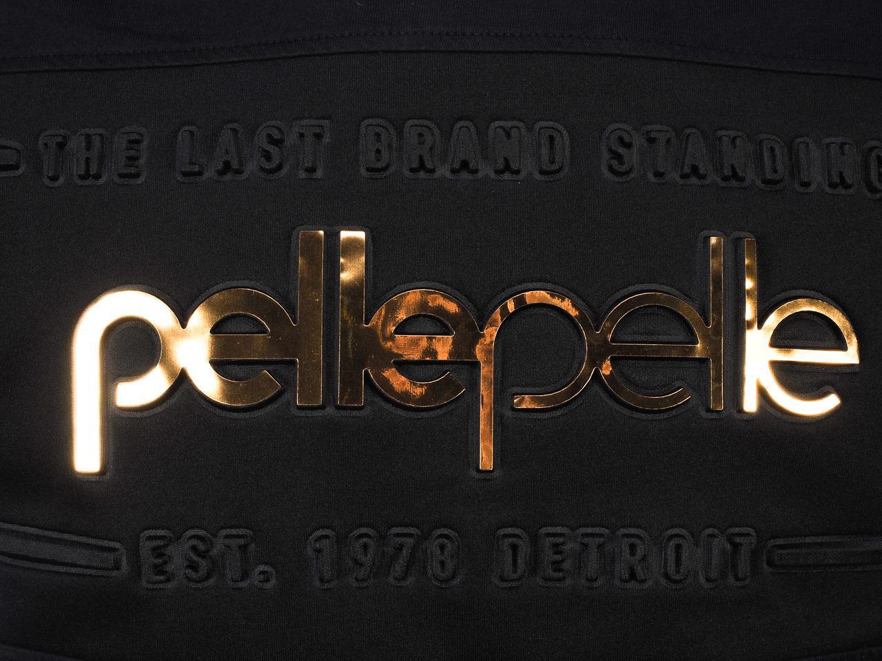 Short-Sleeve-T-Shirt-Pellepelle-Tee-Black-Gold-Black-77639-New thumbnail 3