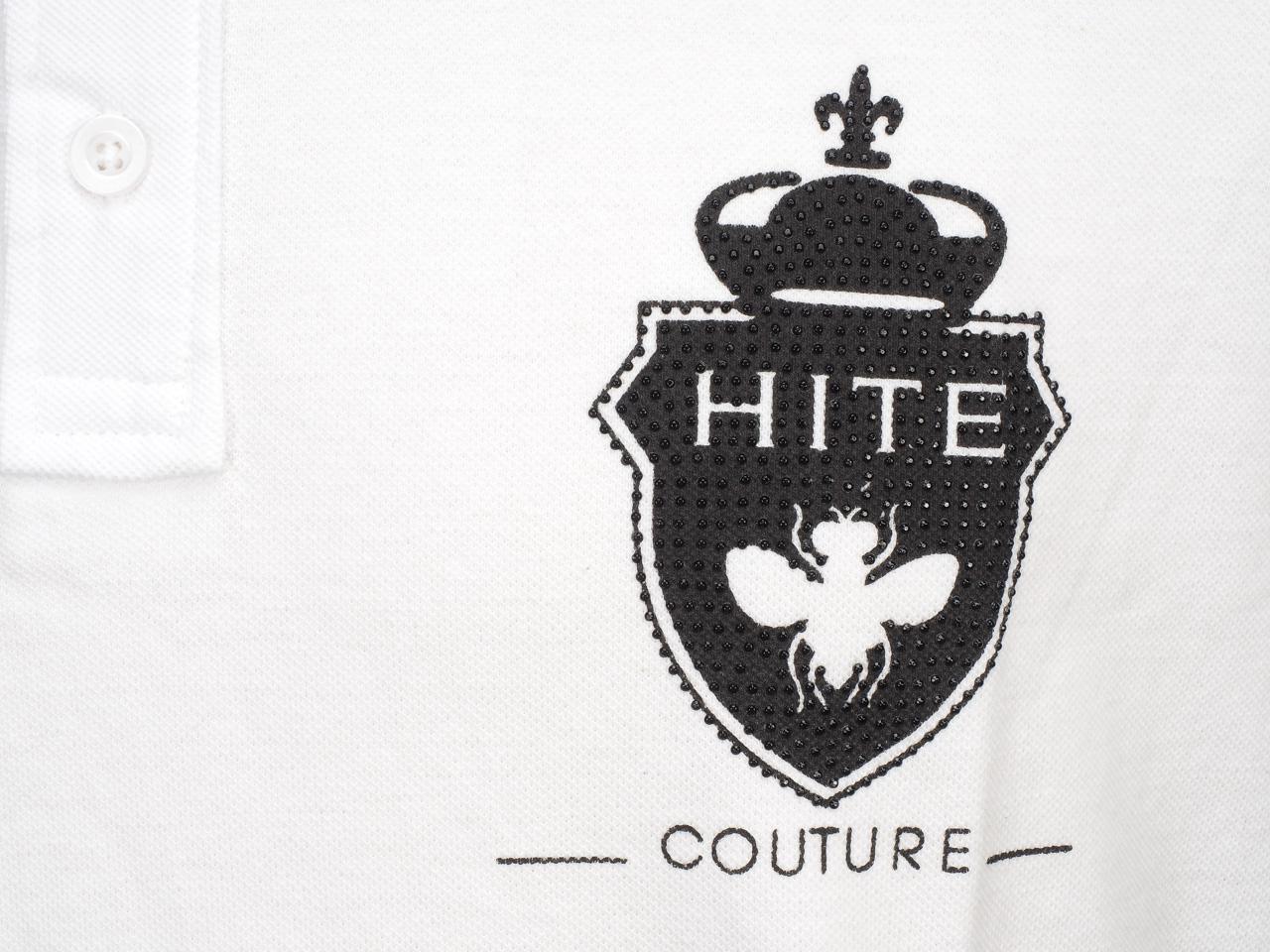 Short-Sleeve-Polo-Hite-Couture-Peltit-White-Mc-Polo-White-83128-New thumbnail 3