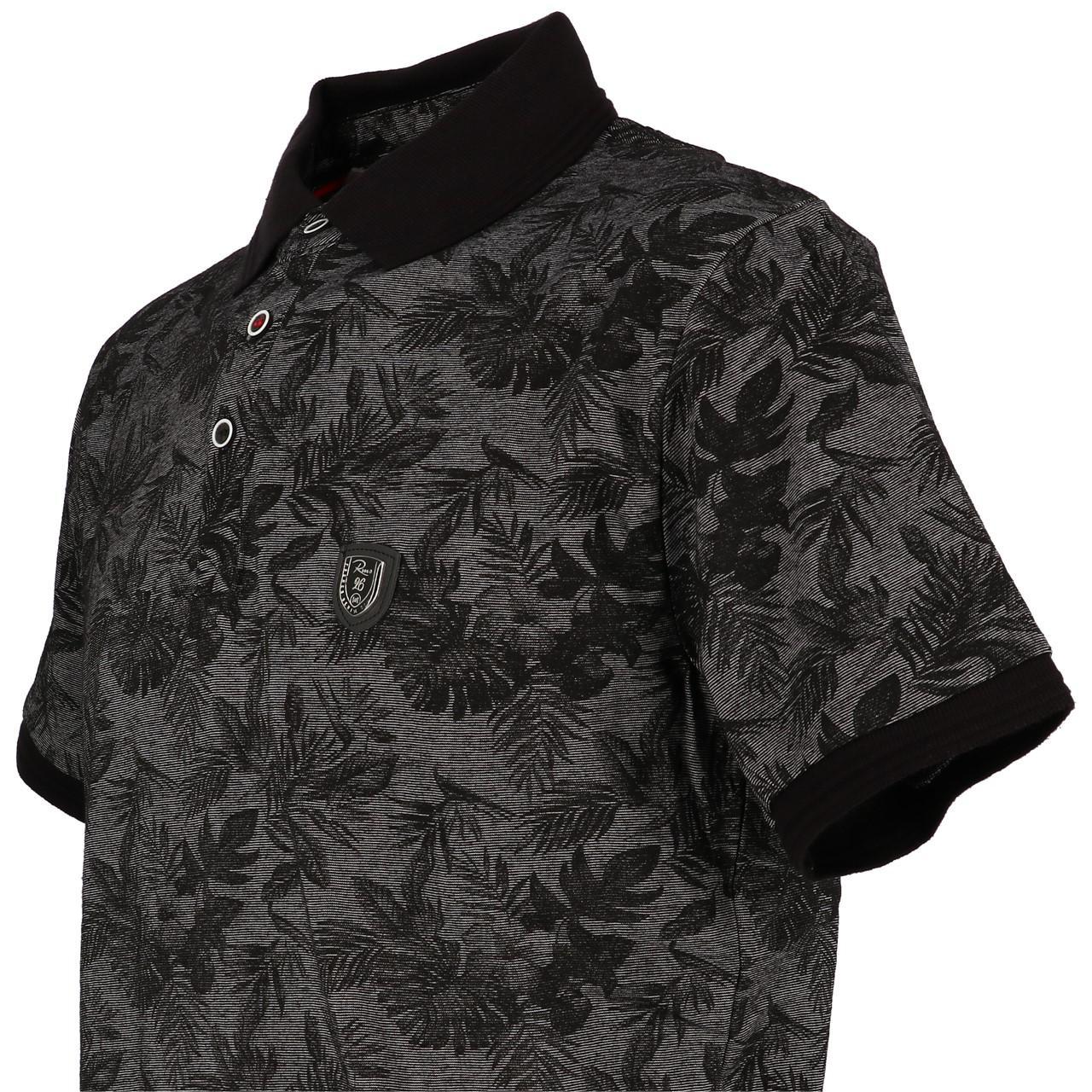 Short-Sleeve-Polo-RMS-26-Tropical-Black-Mc-Polo-Black-90730-New thumbnail 3
