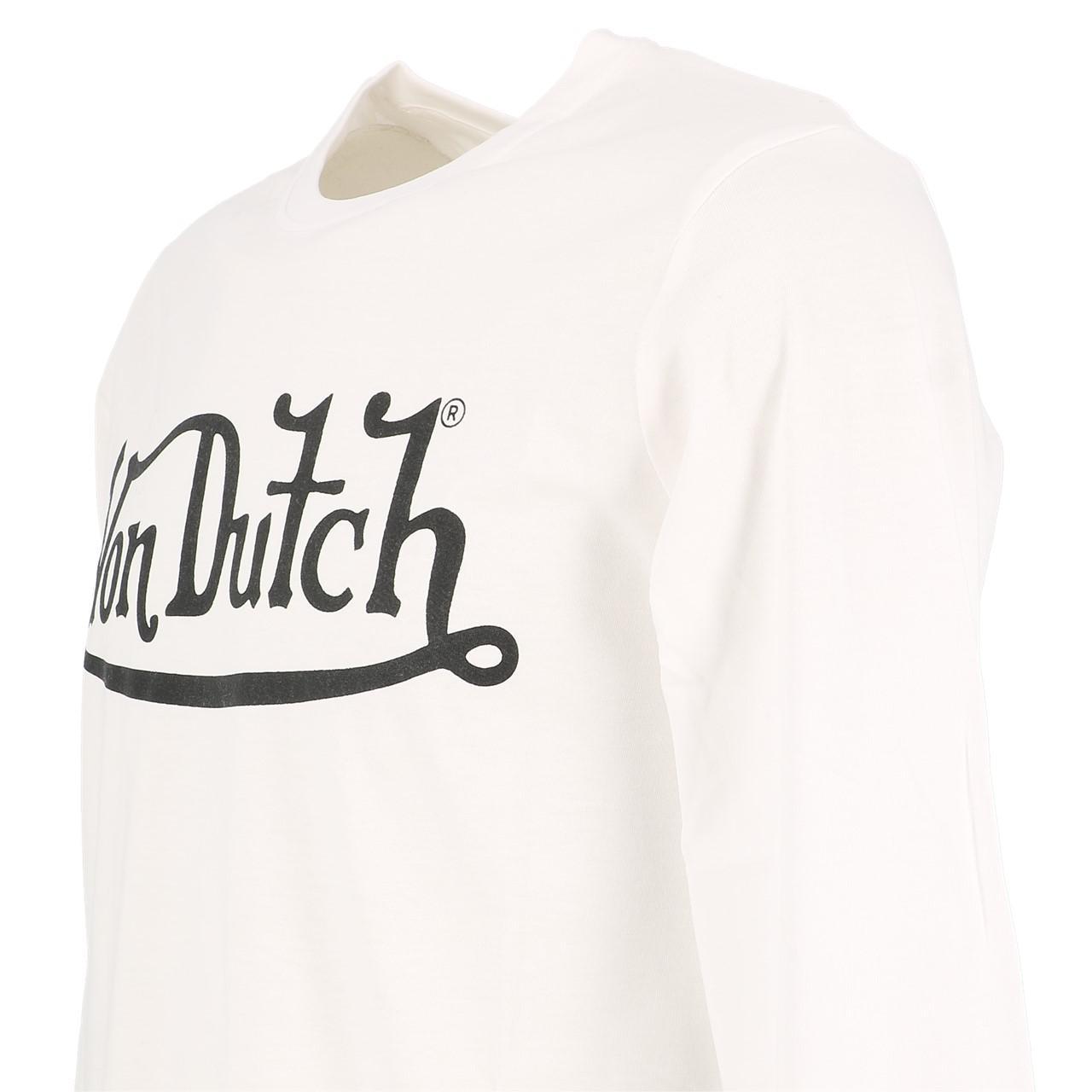 T-Shirt-Von-dutch-Boss-White-ML-Tee-White-91359-New thumbnail 3
